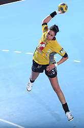 Renata Mortel at handball match at Main round of Champions League between RK Krim Mercator, Ljubljana and CS Oltchim Rm. Valcea, Romania, in Arena Kodeljevo, Ljubljana, Slovenia, on 28th of February 2009. Krim won 35:34.