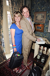 RACHEL JOHNSON and NICK FOULKES at a party to celebrate the publication of Gentlemen & Blackguards by Nicholas Foulkes at Mark's Club, 46 Charles Street, London W1 on 24th May 2010.