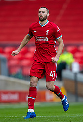 LIVERPOOL, ENGLAND - Sunday, March 7, 2021: Liverpool's Nathaniel Phillips during the FA Premier League match between Liverpool FC and Fulham FC at Anfield. Fulham won 1-0 extending Liverpool's run to six consecutive home defeats. (Pic by David Rawcliffe/Propaganda)