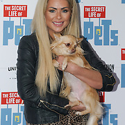 London, England,UK. 12th Nov 2016: Nicola McLean attend the UK 'Petmiere' of The Secret Life of Pets to mark the Blu-ray and DVD release on Monday November 14th 2016 at Prince Charles Cinema, Soho,London,UK. Photo by See Li