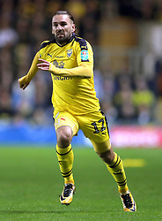 """Oxford United's Ricky Holmes during the Carabao Cup third round match at the Kassam Stadium, Oxford. PRESS ASSOCIATION Photo. Picture date: Tuesday September 25, 2018. See PA story SOCCER Oxford. Photo credit should read: Andrew Matthews/PA Wire. RESTRICTIONS: EDITORIAL USE ONLY No use with unauthorised audio, video, data, fixture lists, club/league logos or """"live"""" services. Online in-match use limited to 120 images, no video emulation. No use in betting, games or single club/league/player publications"""