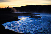 Flyfisherman on the Madison River, Yellowstone National Park