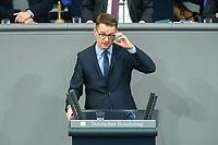 08 DEC 2020, BERLIN/GERMANY:<br /> Dr, Carsten Linnemann, MdB, CDU, Haushaltsdebatte, Plenum, Reichstagsgebaeude, Deuscher Bundestag<br /> IMAGE: 20201208-02-115