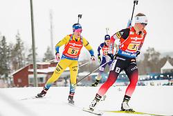 March 16, 2019 - –Stersund, Sweden - 190316 Anna Magnusson of Sweden competes in the Women's 4x6 km Relay during the IBU World Championships Biathlon on March 16, 2019 in Östersund..Photo: Johan Axelsson / BILDBYRÃ…N / Cop 245 (Credit Image: © Johan Axelsson/Bildbyran via ZUMA Press)