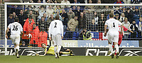 Photo: Aidan Ellis.<br /> Bolton Wanderers v Blackburn Rovers. The Barclays Premiership. 04/03/2007.<br /> Bolton's Jussi Jaaskerlainen cant keep out Benni McArthy second penalty