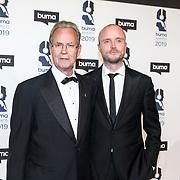 NLD/Hilversum/20190311  - Uitreiking Buma Awards 2019, Tony Berk sr en zijn zoon Tomy Berk Jr.