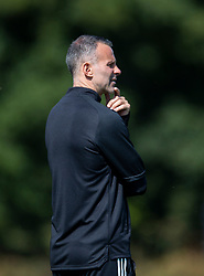 CARDIFF, WALES - Monday, August 31, 2020: Wales' manager Ryan Giggs watches an Under-21 training session at the Vale Resort ahead of the UEFA Under-21 Championship Qualifying Round Group 9 match between Bosnia and Herzegovina and Wales. (Pic by David Rawcliffe/Propaganda)