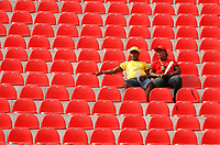 Photo: Steve Bond/Richard Lane Photography.<br />Guinea v Morocco. Africa Cup of Nations. 24/01/2008. Before the main event?