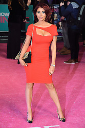 © Licensed to London News Pictures. 09/02/2016. London, UK. AMY CHILDS attends the UK film premiere of 'How To Be Single'.  The film is about a woman writing a book about bacherlorettes who becomes embroiled in an international affair while researching abroad<br /> Photo credit: Ray Tang/LNP