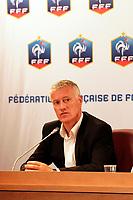 FOOTBALL - MISCS - FEDERATION FRANCAISE DE FOOTBALL PRESS CONFERENCE - PARIS - FRANCE - 9/07/2012 - PHOTO JULIEN BIEHLER / DPPI - PRESENTATION DIDIER DESCHAMPS