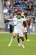 March 30th, 2013 Commerce City, CO - Portland Timbers midfielder Diego Valeri (8) receives a pass in the first half of the MLS match between the Portland Timbers and the Colorado Rapids at Dick's Sporting Goods Park in Commerce City, CO