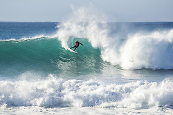 July 19, 2017 - Jeffreys Bay, South Africa - Reigning World Champion JOHN JOHN FLORENCE of Hawaii advanced to the Quarterfinals of the Corona Open J-Bay after defeating Owen Wright of Australia in Heat 2 of Round Five at pumping Supertubes, Jeffreys Bay, South Africa. (Credit Image: © Rex Shutterstock via ZUMA Press)