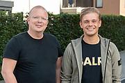 ROTTERDAM, 16-05-2020 , Ahoy Hallen , Eurovision Shine a light 2020.<br /> <br /> RoddelPraat, een wekelijks online programma op YouTube. Het programma focust zich op de actualiteiten in de amusementswereld. De presentatie wordt verzorgd door Dennis Schouten en Jan Roos. FOTO: Brunopress/Patrick van Emst<br /> <br /> Op de foto:  Dennis Schouten en Jan Roos