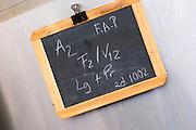 sign on tank A2 F2 V12 herdade de sao miguel alentejo portugal