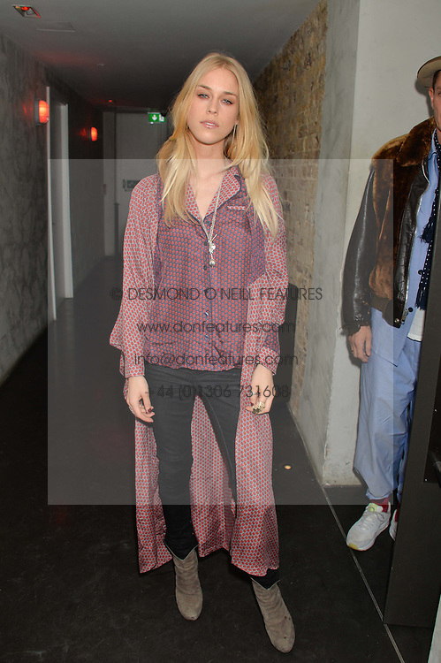 MARY CHARTERIS at the Lancôme pre BAFTA party held at The London Edition, 10 Berners Street, London on 14th February 2014.