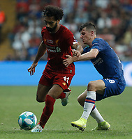 ISTANBUL, TURKEY - AUGUST 14: Sadio Mane (L) of Liverpool and Mason Mount of Chelsea vie for the ball during the UEFA Super Cup match between Liverpool and Chelsea at Vodafone Park on August 14, 2019 in Istanbul, Turkey. (Photo by MB Media/Getty Images)