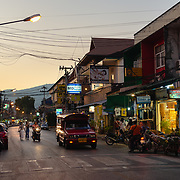 Evening traffic in Chiang Mai