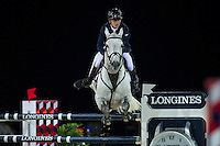 Bertram Allen on Hector van d'Abdijhoeve competes during Longines Grand Prix at the Longines Masters of Hong Kong on 21 February 2016 at the Asia World Expo in Hong Kong, China. Photo by Juan Manuel Serrano / Power Sport Images