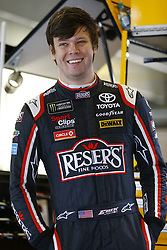 April 7, 2018 - Ft. Worth, Texas, United States of America - April 07, 2018 - Ft. Worth, Texas, USA: Erik Jones (20) hangs out in the garage during practice for the O'Reilly Auto Parts 500 at Texas Motor Speedway in Ft. Worth, Texas. (Credit Image: © Chris Owens Asp Inc/ASP via ZUMA Wire)