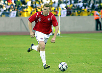 Fotball<br /> Privatlandskamp<br /> Sør Afrika v Norge 2-1<br /> Rustenburg<br /> 28.03.2009<br /> Foto: Vegard Fiskerstrand, Digitalsport<br /> <br /> John Arne Riise - NOR