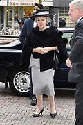 Prinses Beatrix woont een symposium bij van het interreligieus netwerk In Vrijheid Verbonden.<br /> <br /> Princess Beatrix attends a symposium of the interreligious network In Freedom Connected.<br /> <br /> Op de foto / On the photo: Aankomst / Arrival