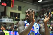 DESCRIZIONE : Campionato 2014/15 Dinamo Banco di Sardegna Sassari - Virtus Granarolo Bologna<br /> GIOCATORE : Rakim Sanders<br /> CATEGORIA : Esultanza Mani<br /> SQUADRA : Dinamo Banco di Sardegna Sassari<br /> EVENTO : LegaBasket Serie A Beko 2014/2015<br /> GARA : Dinamo Banco di Sardegna Sassari - Virtus Granarolo Bologna<br /> DATA : 12/10/2014<br /> SPORT : Pallacanestro <br /> AUTORE : Agenzia Ciamillo-Castoria / M.Turrini<br /> Galleria : LegaBasket Serie A Beko 2014/2015<br /> Fotonotizia : Campionato 2014/15 Dinamo Banco di Sardegna Sassari - Virtus Granarolo Bologna<br /> Predefinita :