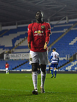 Football - 2019 / 2020 Premier League 2 (Under-23s) Division Two - Reading vs. Manchester United<br /> <br /> Manchester United's Aliou Traore celebrates scoring his side's second goal, at the Madejski Stadium.<br /> <br /> COLORSPORT/ASHLEY WESTERN