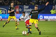 Fussball: Deutschland, 1. Bundesliga, Hamburger SV - BVB Borussia Dortmund, Hamburg, 20.11.2015<br /> <br /> Ivo Ilicevic (HSV, l.) - Lukas Piszczek (BVB)<br /> <br /> © Torsten Helmke