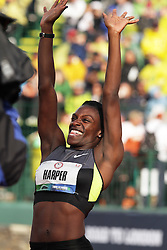 Olympic Trials Eugene 2012: women's 100 meter hurdles, Dawn Harper reacts to making Olympic team