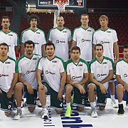 Aliaga Petkim's players during their Turkish Basketball League match Anadolu Efes between Aliaga Petkim at Aliaga Arena in Istanbul, Turkey, Sunday, October 23, 2011. Photo by TURKPIX