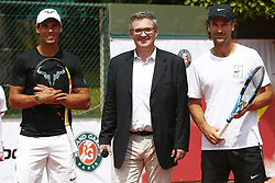 May 25, 2018 - Paris, France - Rafael Nadal (ESP) / Eric Babolat et Carlos Moya - Decima Babolat (Credit Image: © Panoramic via ZUMA Press)
