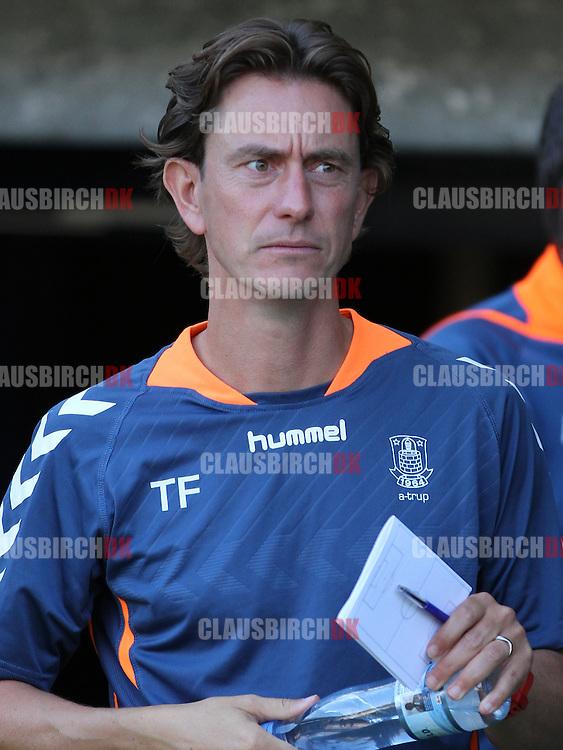 FODBOLD: Cheftræner Thomas Frank (Brøndby) før træningskampen mellem Brøndby IF og Bolton Wanderers FC den 10. juli 2014 på Brøndby Stadion. Foto: Claus Birch