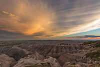 This storm to the south had some of the best structure of the year. But I decided to stay in the Badlands this day instead of chasing it. At least it made for a nice sunset here underneath the anvil.