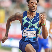 BRUSSELS, BELGIUM:  September 3:   Michael Cherry of the United States in action in the 400m for men race during the Wanda Diamond League 2021 Memorial Van Damme Athletics competition at King Baudouin Stadium on September 3, 2021 in  Brussels, Belgium. (Photo by Tim Clayton/Corbis via Getty Images)