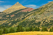 Canadian Rocky Mountains. Mt. Galwey at left, Waterton Lakes  National Park, Alberta, Canada