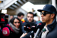 HAMILTON lewis (gbr) mercedes gp mgp w06 ambiance portrait during Formula 1 winter tests 2015 at Barcelona, Spain from February 19th to 22nd. Photo DPPI / Florent Gooden.