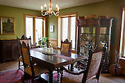 "BLUE MOUNDS—November 7, 2014: Dining room area of ""Little Norway""."