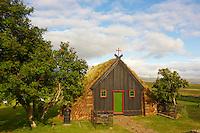 Islande, eglise Vidimvri dans les environs de Varmahlid // Iceland, Vidimvri church around Varmahlid