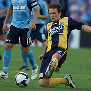 Matthew Crowell in action during the Sydney FC V Central Coast Mariners A-League match at the Sydney Football Stadium, Sydney, Australia, 23 December 2009. Photo Tim Clayton