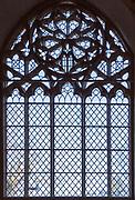 Fine tracery in east window of village parish church of Saint Gregory,  Rendlesham, Suffolk, England, UK