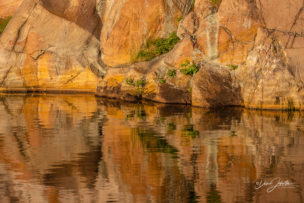 Reflections in George Lake, Killarney Provincial Park, Killarney,, Ontario, Canada