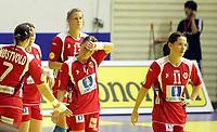 03.12.2008 Ohrid (FYR Macedonia)<br />Norway-Spain European women's handball championship<br /> Aamodt Ragnhild(c) and Johansen Kari Mette(R)Norway after match<br />Foto:Aleksandar Djorovic