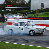St Mary's Trophy, Saturday 15h05<br /> #134 - 1965 BMW 1800 TiSA – driver Richard Attwood overshoots his braking point! at Goodwood SpeedWeek 16 - 18 October 2020