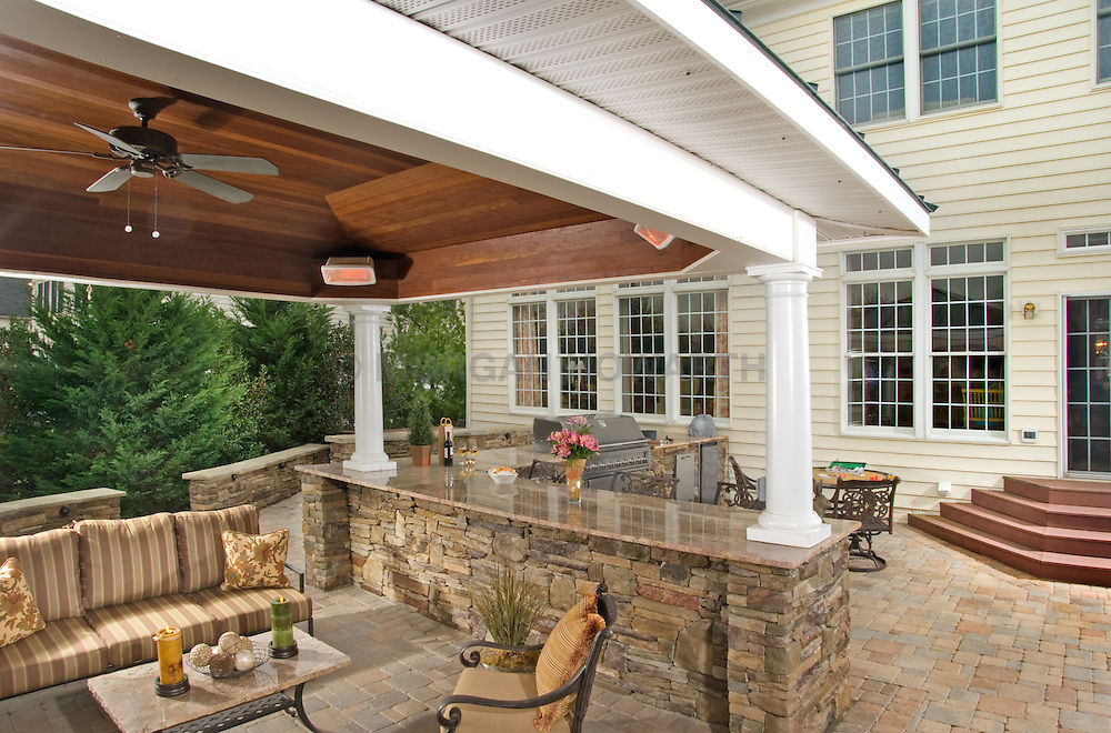 House rear exterior Deck patio Verandah Porch VA1-803-266