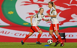 NEWPORT, WALES - Tuesday, June 12, 2018: Wales' Elise Hughes during the pre-match warm-up before the FIFA Women's World Cup 2019 Qualifying Round Group 1 match between Wales and Russia at Newport Stadium. (Pic by David Rawcliffe/Propaganda)