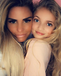 """Katie Price releases a photo on Instagram with the following caption: """"Me and my mini me \ud83d\udc95\ud83d\udc95 she follows me around like a lamb lol"""". Photo Credit: Instagram *** No USA Distribution *** For Editorial Use Only *** Not to be Published in Books or Photo Books ***  Please note: Fees charged by the agency are for the agency's services only, and do not, nor are they intended to, convey to the user any ownership of Copyright or License in the material. The agency does not claim any ownership including but not limited to Copyright or License in the attached material. By publishing this material you expressly agree to indemnify and to hold the agency and its directors, shareholders and employees harmless from any loss, claims, damages, demands, expenses (including legal fees), or any causes of action or allegation against the agency arising out of or connected in any way with publication of the material."""