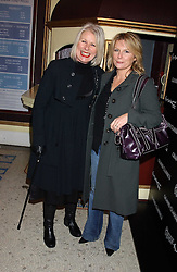 Left to right, designer BETTY JACKSON and comedian JENNIFER SAUNDERS at a special Grand Classic screening of Place Vendome to celebrate Catherine Deneuve as MAC Beauty Icon 3 held at The Elecric Cinema, Portobello Road, London W11 on 30th January 2006.<br />