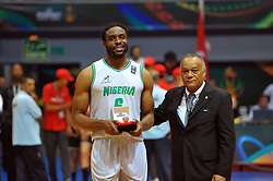 September 16, 2017 - Tunis, Tunisia - Nigerian Ike Diogu won the MVP title of the tournament, compiling 22 points and 8.7 rebounds of average, with 57% of success with the shot of which 45% by far. (Credit Image: © Chokri Mahjoub via ZUMA Wire)