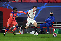 SEVILLE, SPAIN - DECEMBER 02: Oussama Idrissi of FC Sevilla and Callum Hudson-Odoi of Chelsea FC during the UEFA Champions League Group E stage match between FC Sevilla and Chelsea FC at Estadio Ramon Sanchez-Pizjuan on December 2, 2020 in Seville, Spain. (Photo by Juan Jose Ubeda/MB Media)