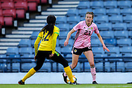 Lizzie Arnot (#23) of Scotland takes on Sashana Campbell (#12) of Jamaica during the International Friendly match between Scotland Women and Jamaica Women at Hampden Park, Glasgow, United Kingdom on 28 May 2019.